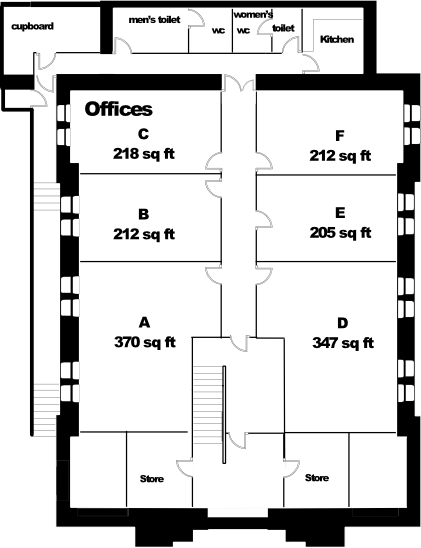 St Francis House lower ground floor plan