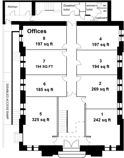 St Francis House ground floor plan