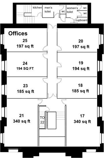 St Francis House second floor plan